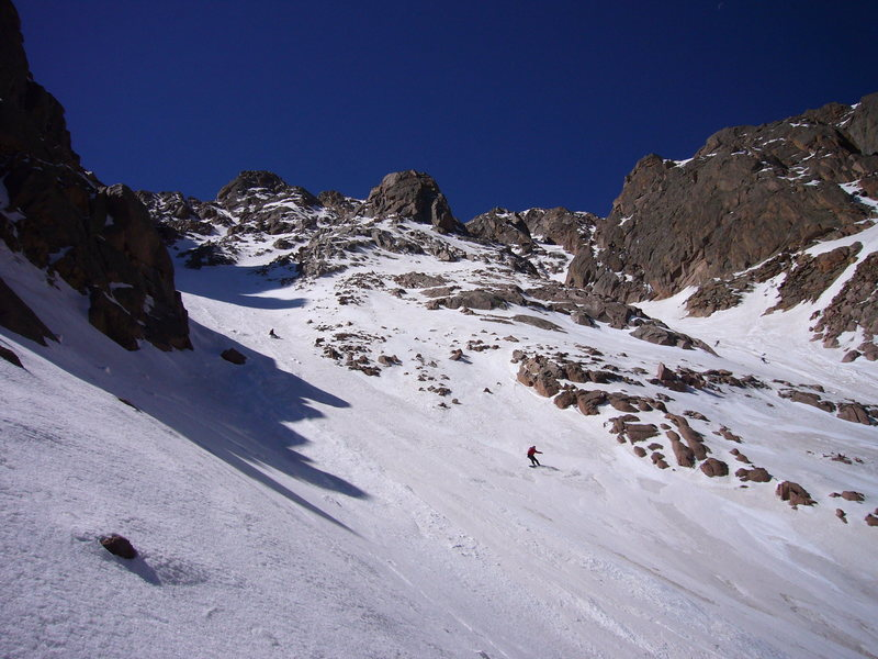 Rock Climbing Photo: Skiing and snowboarding Pikes Peak in spring time ...