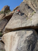 Rock Climbing Photo: Reaching out to the arete