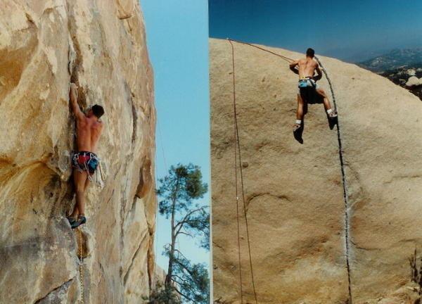 Rock Climbing Photo: Me @J.tree & Mt.Woodson, CA many years ago.