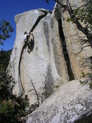 Rock Climbing Photo: Vicious, 5.11+.  We found this climb by accident w...