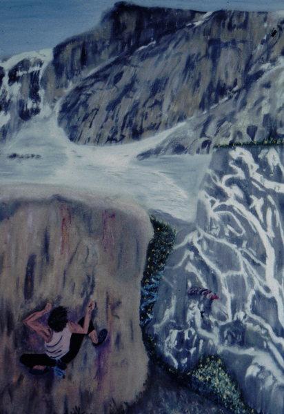 Rock Climbing Photo: Trilogy Painting