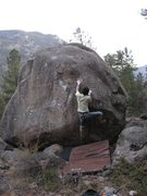 Rock Climbing Photo: Getting over the bulge.