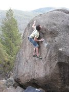 Rock Climbing Photo: Standing up on Volcano's starting holds.