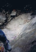 Rock Climbing Photo: 1st ascent of Redwood Burl...Petch and his dog in ...
