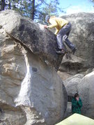 Rock Climbing Photo: Topping out The Fang