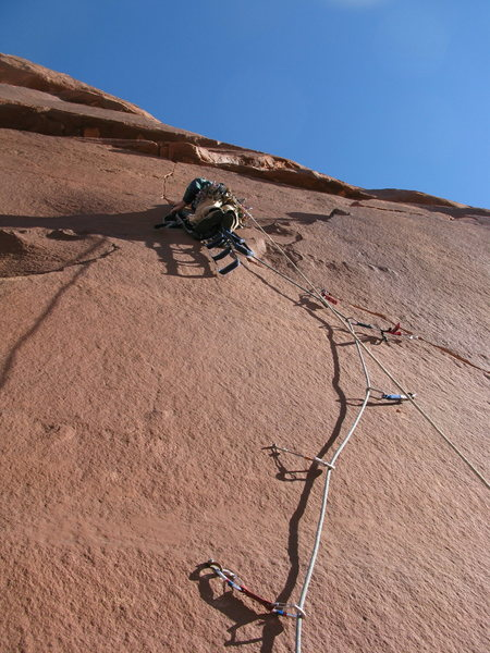 Rock Climbing Photo: Eric midway up P5.