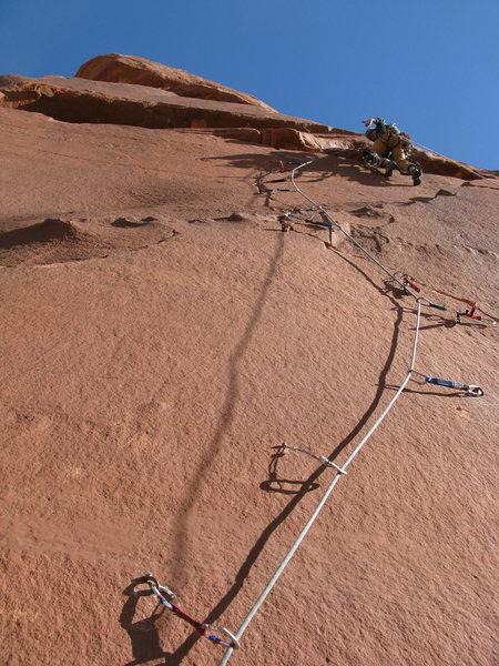 Rock Climbing Photo: Eric further up P5.