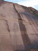 Rock Climbing Photo: How they spotted this line in the black streak is ...