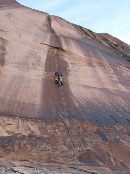 Rock Climbing Photo: Eric on the lead.