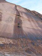 Rock Climbing Photo: Eric on the lead.