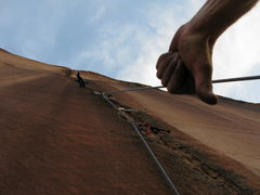 Rock Climbing Photo: Damn, my aiders are still up there, guess I'm goin...