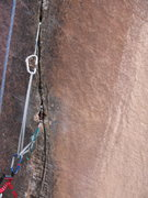 Rock Climbing Photo: this was set up above the first 2 pins, and below ...