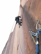 Rock Climbing Photo: P3. I back cleaned once I got a piece above the bo...