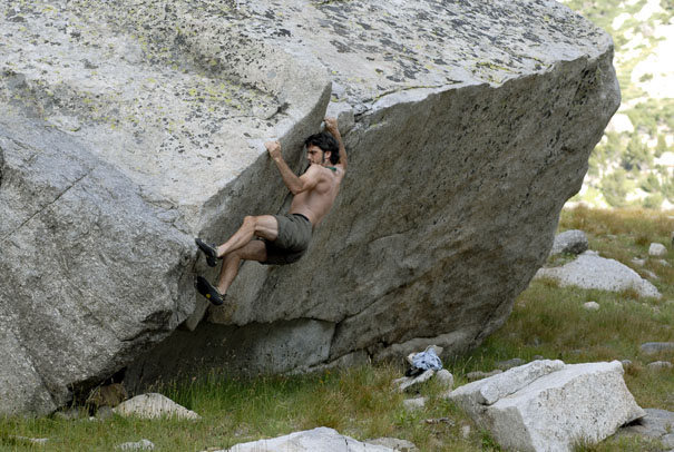 Rock Climbing Photo: Bouldering in the cirque of towers