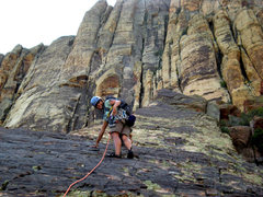 Rock Climbing Photo: having fun near the top