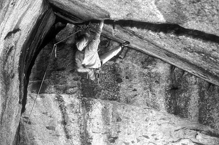 Tommy Klinefelter climbing around 1987
