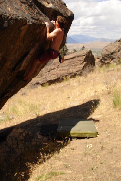 Bouldering in the Okanogan Valley, Washington (2008).  Photo by Allison F. (age 7).