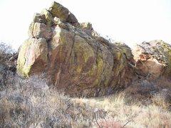 Rock Climbing Photo: The Rotund Boulder.