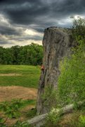 Rock Climbing Photo: David Eckels climbing in the calm before the storm...