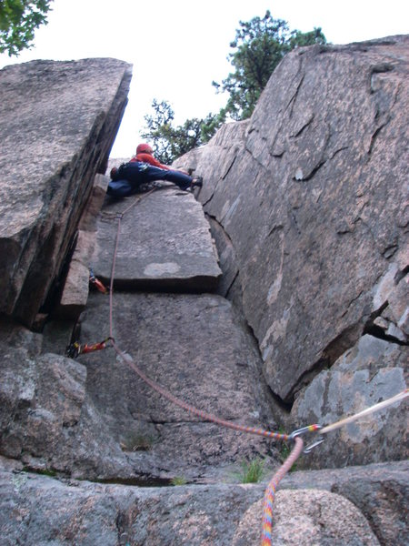 Rock Climbing Photo: Ben Natusch leading the second pitch of Standard R...