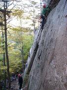 Rock Climbing Photo: Ben Natusch leading Beeline at Echo Crag