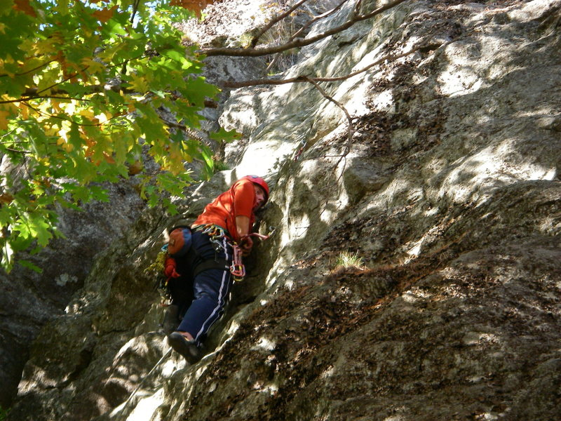 Rock Climbing Photo: Ben Natusch leading Things I Never Learned (5.9) R...