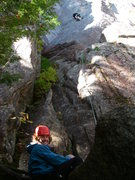 Rock Climbing Photo: Ben Natusch belaying Bryan Mazaika on Upper Refuse...