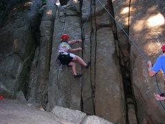 Ben Natusch climbing Obscene Phone Call at Pawtuckaway