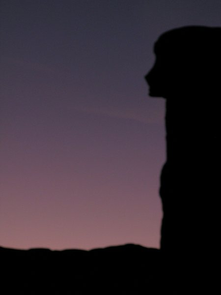 Awesome, looks like a persons silhouette