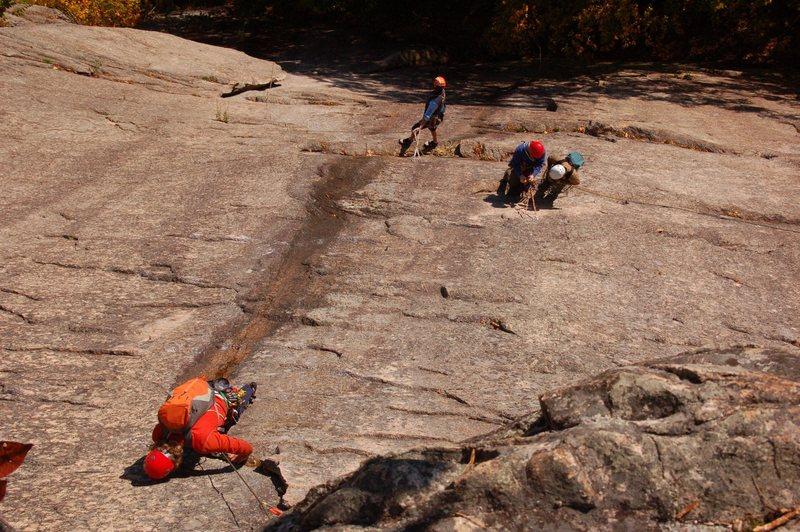 Rock Climbing Photo: Ben Natusch seconding the third pitch of Thin Air,...