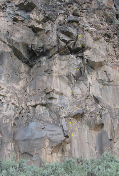 Rock Climbing Photo: #5 Monster Wall (Tombstone)