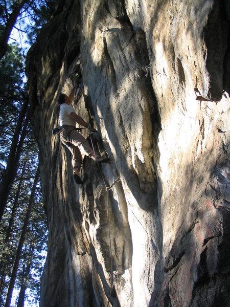 Rock Climbing Photo: Wings:  Todd Hamm in flight.