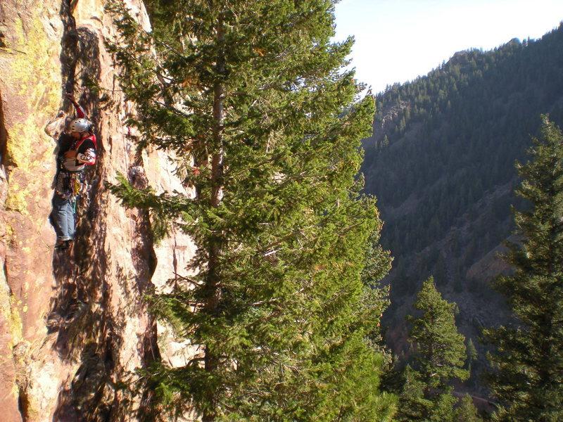 Rock Climbing Photo: on-sight of Dr. Michael Solar mid oct