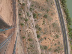 Rock Climbing Photo: looking down from the belay on top of P3.