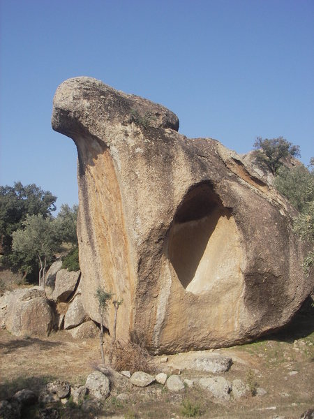 various problems on this 10-meter tall boulder