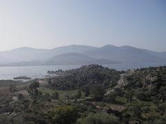 Rock Climbing Photo: view from the hillsides towards Bafa Lake