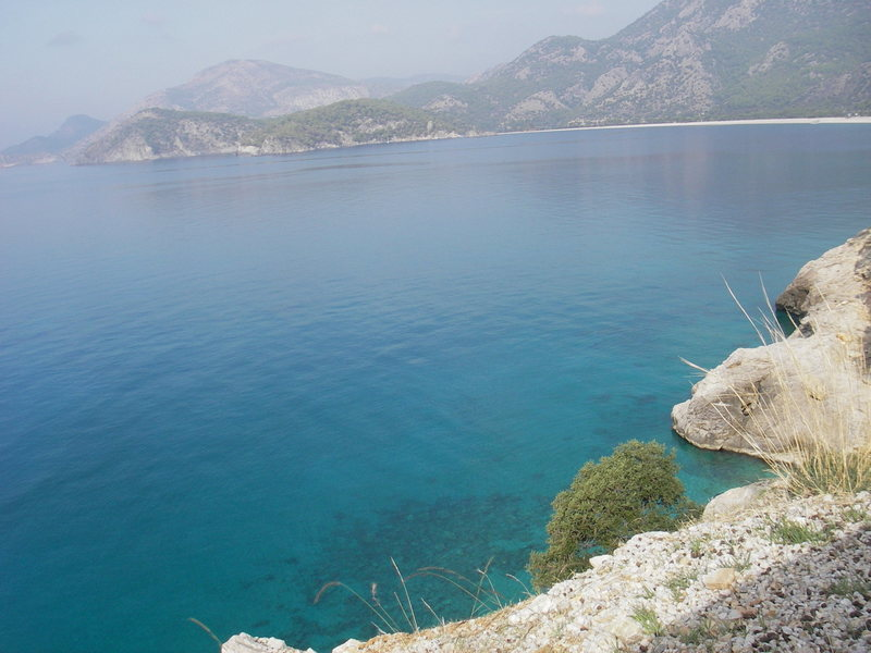 searching for cliffs outside Olu Deniz via car