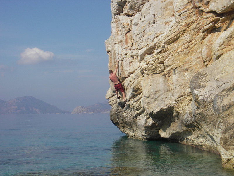 "Rock Climbing Photo: off the  ""private"" beach near Lykia Worl..."