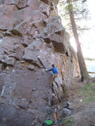 Rock Climbing Photo: JP going for the big move.