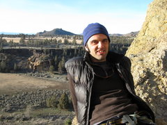 Rock Climbing Photo: Me on Asterisk pass enjoying the February sun.