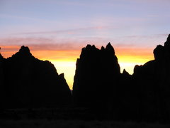 Rock Climbing Photo: Winter sunset on the Smith Rock group