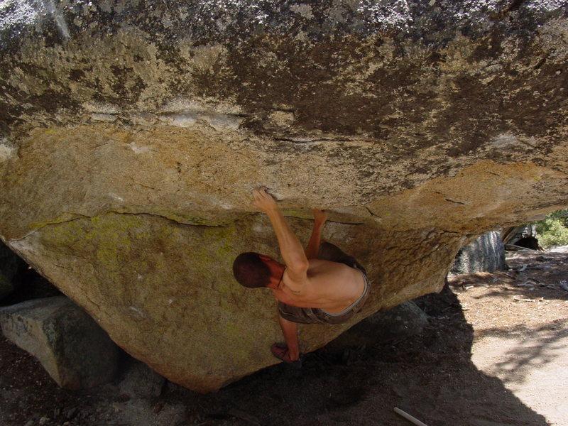 Rock Climbing Photo: Me working the Visor.