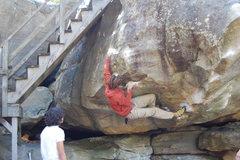 Rock Climbing Photo: Sharma trying Step Child