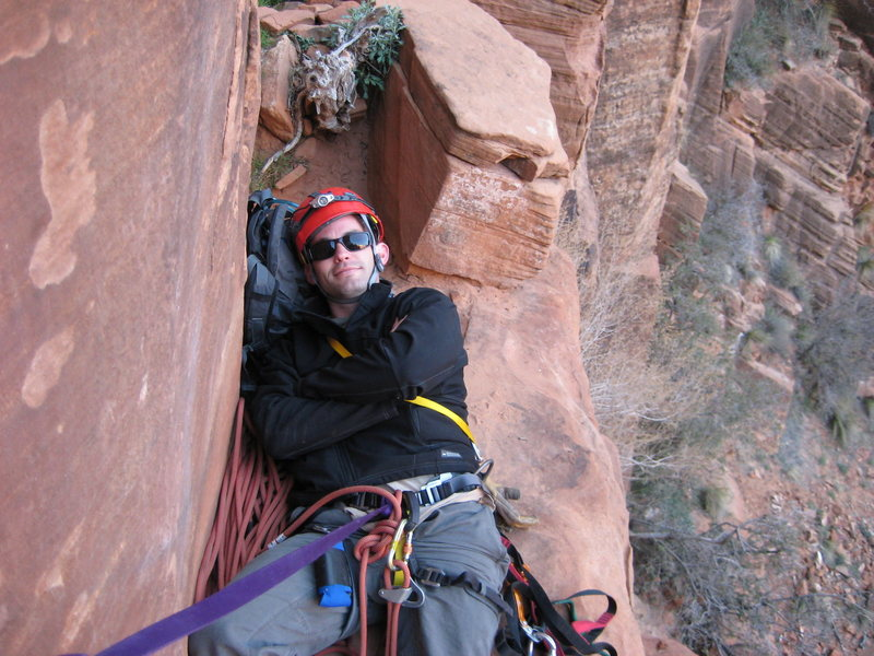 Rock Climbing Photo: relaxin top of third