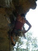 Rock Climbing Photo: Rumney warm-up!