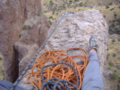 Rock Climbing Photo: Belay on P2 of the Hand, Superstition mountains!