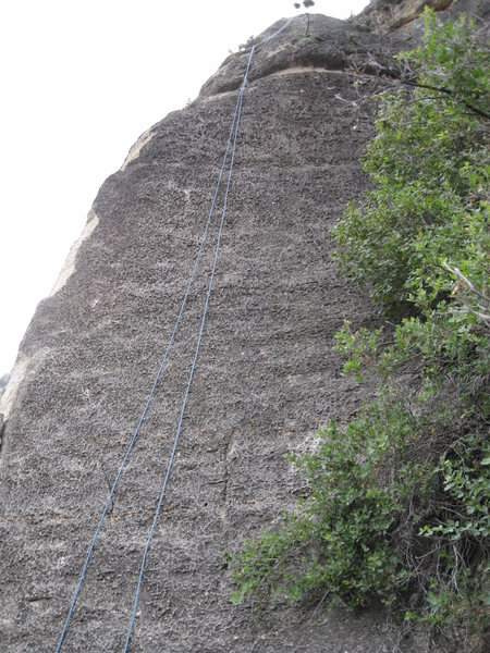 White Knight. Large Ledge is Near the top maybe another 10-15 feet from chains.