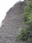 Rock Climbing Photo: White Knight. Large Ledge is Near the top maybe an...