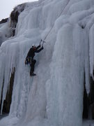 Rock Climbing Photo: Rick Witting at the top of the main flow 11/8/2008...