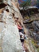 Rock Climbing Photo: Rachel on Filthy Sanchez.